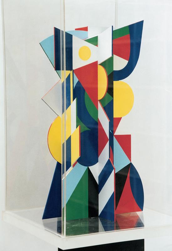 Painted plexiglass